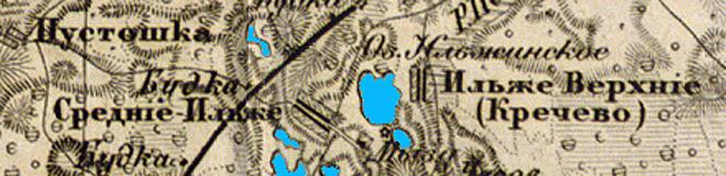 Карта СПб Губернии 1863 года